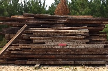 Just A Small Example Of Our Reclaimed Lumber At The Yard